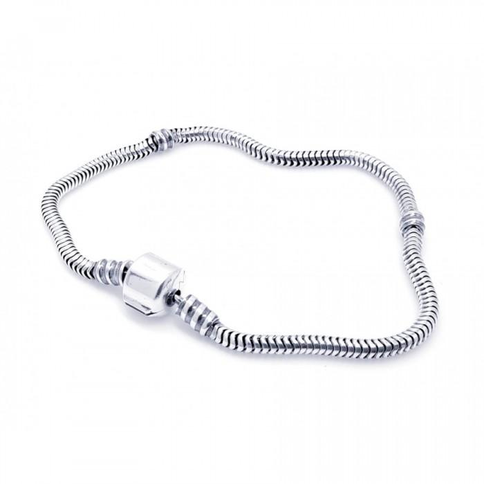 Bransoletka srebrna modułowa - charms