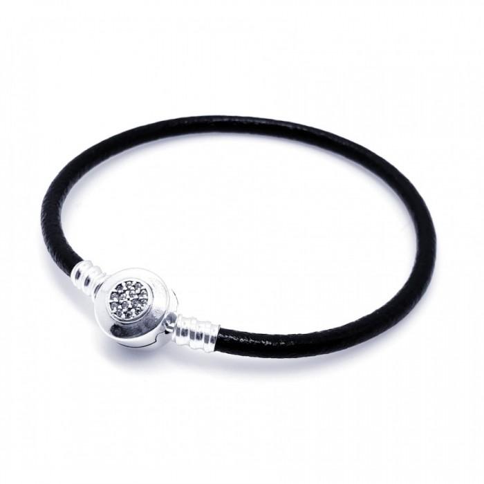 Bransoletka srebrna modułowa  - charms  owal