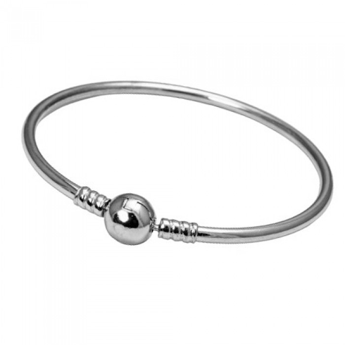 Bransoletka srebrna sztywna - charms