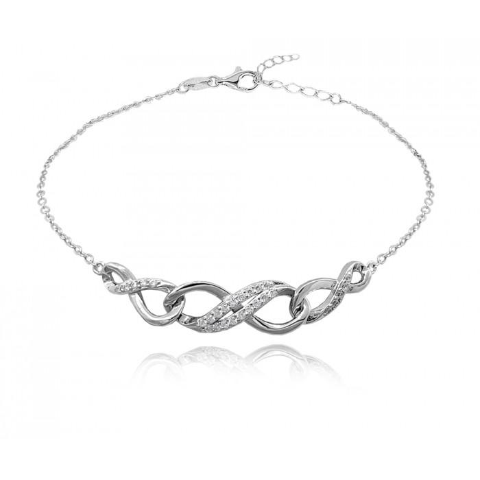 Bransoletka srebrna - nieskończoność