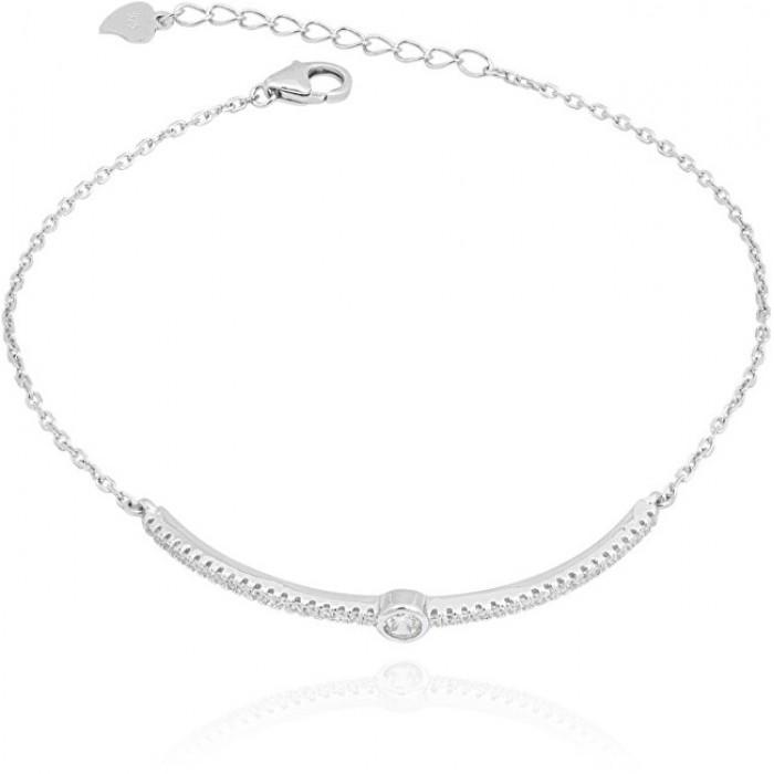 Bransoletka srebrna ze sztywnym elementem na łańcuszku