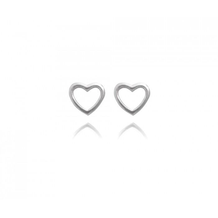 Kolczyki srebrne - serca