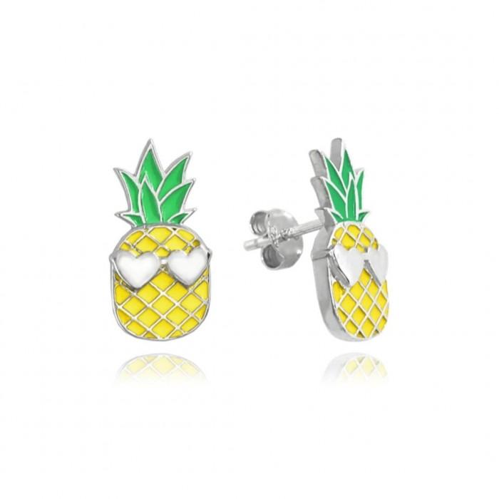 Kolczyki srebrne - anans
