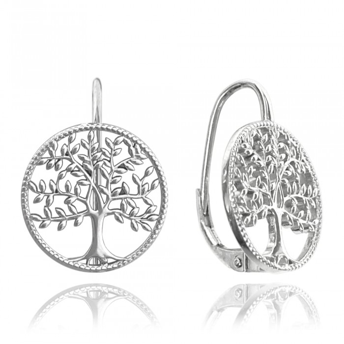 Kolczyki srebrne - drzewo życia
