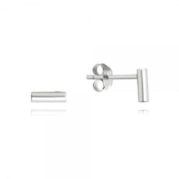 Kolczyki srebrne na sztyfcie - małe patyczki