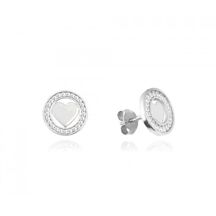 Kolczyki srebrne z białymi cyrkoniami