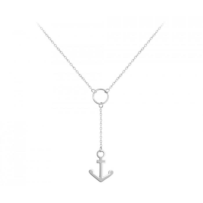 Naszyjnik srebrny - kotwica