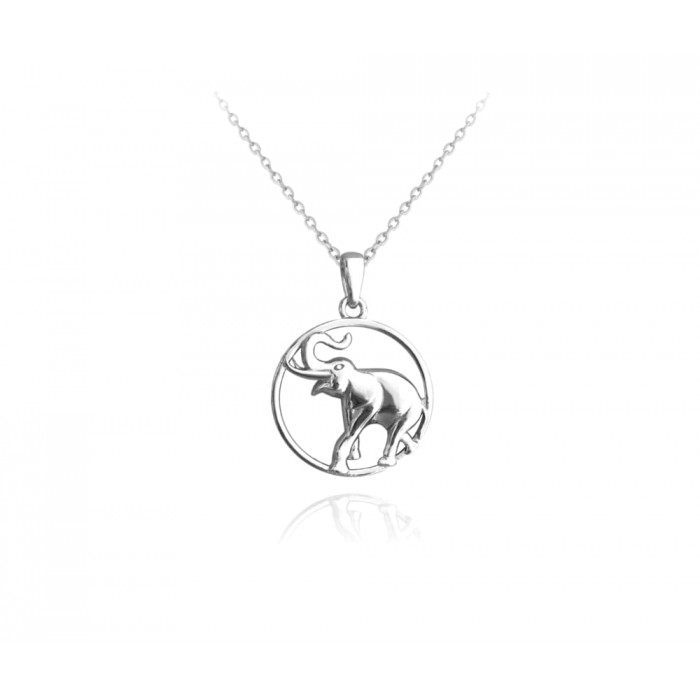 Naszyjnik srebrny - słoń