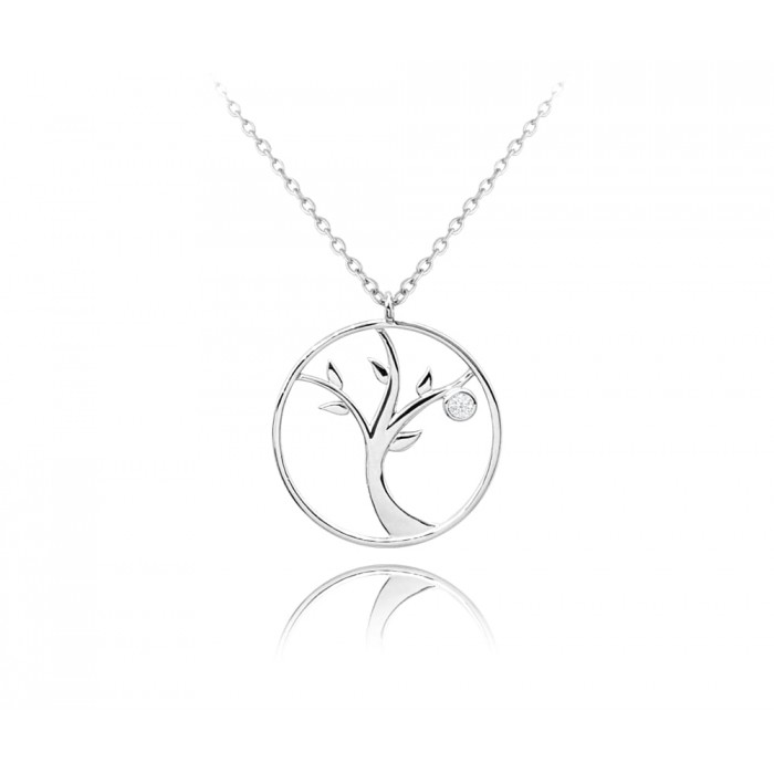 Naszyjnik srebrny - drzewo życia