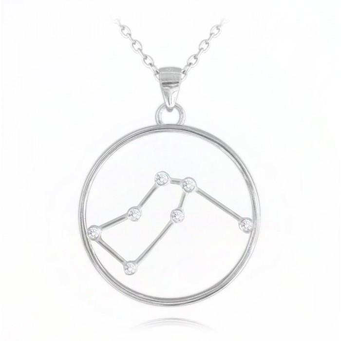 Naszyjnik srebrny znak zodiaku Stars - WODNIK