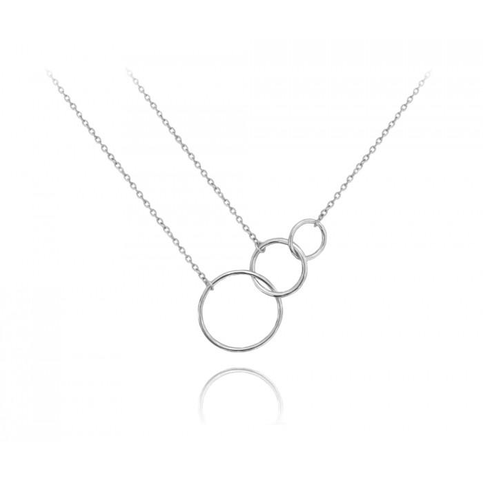 Naszyjnik srebrny asymetryczny - koła