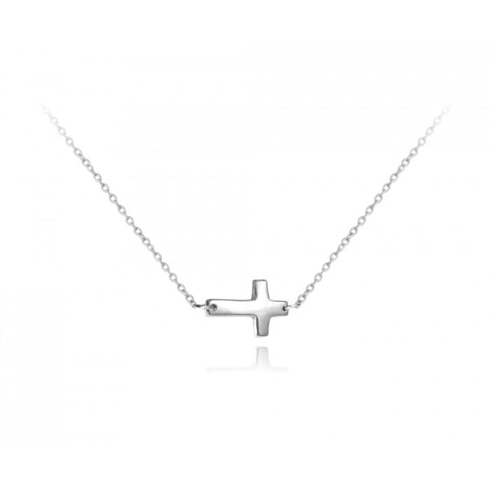 Naszyjnik srebrny - krzyż
