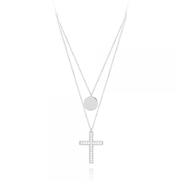 Naszyjnik srebrny z krzyżem
