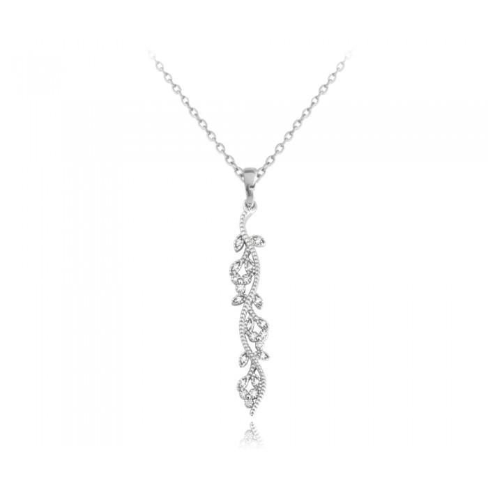 Naszyjnik srebrny z kwiecistym wzorem