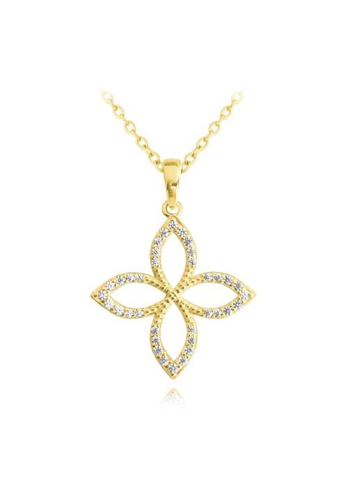 Naszyjnik srebrny z zawieszką - kwiat