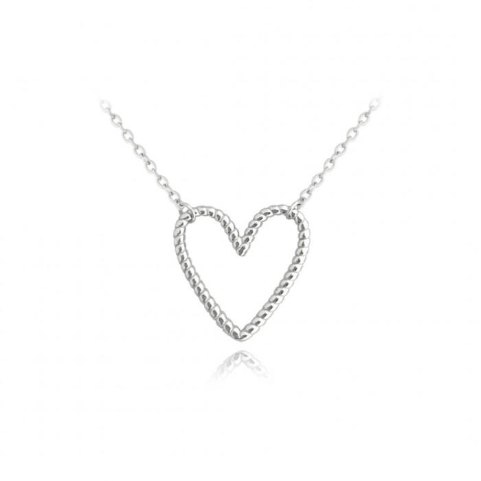 Naszyjnik srebrny z zawieszką - serce