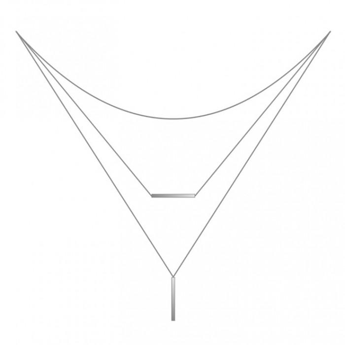 Potrójny naszyjnik srebrny
