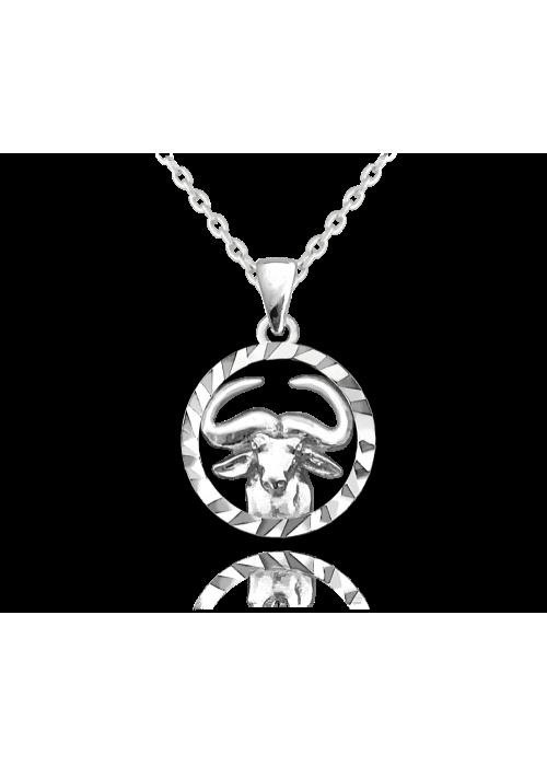 Naszyjnik srebrny znak zodiaku - byk