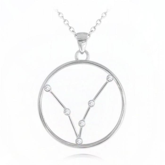 Naszyjnik srebrny znak zodiaku Stars - RYBY