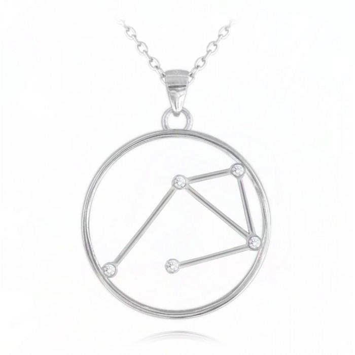 Naszyjnik srebrny znak zodiaku Stars - WAGA