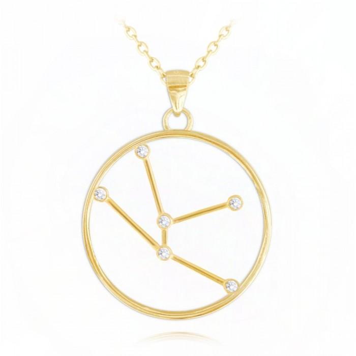 Naszyjnik srebrny pozłacany znak zodiaku Stars - BYK