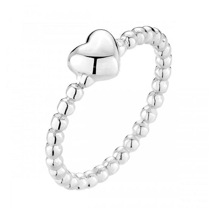 Pierścionek srebrny - serce