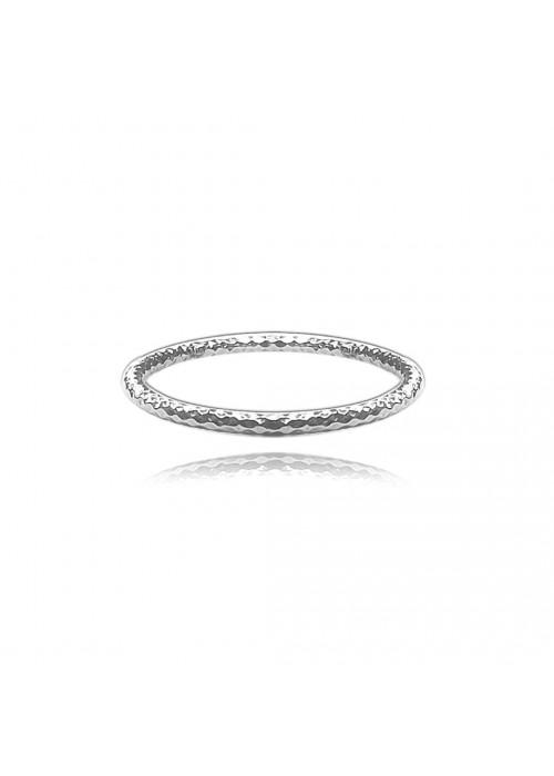 Pierścionek srebrny frezowany