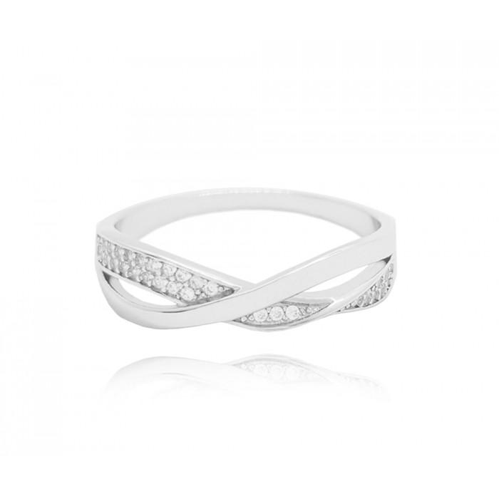 Pierścionek srebrny - nieskończoność