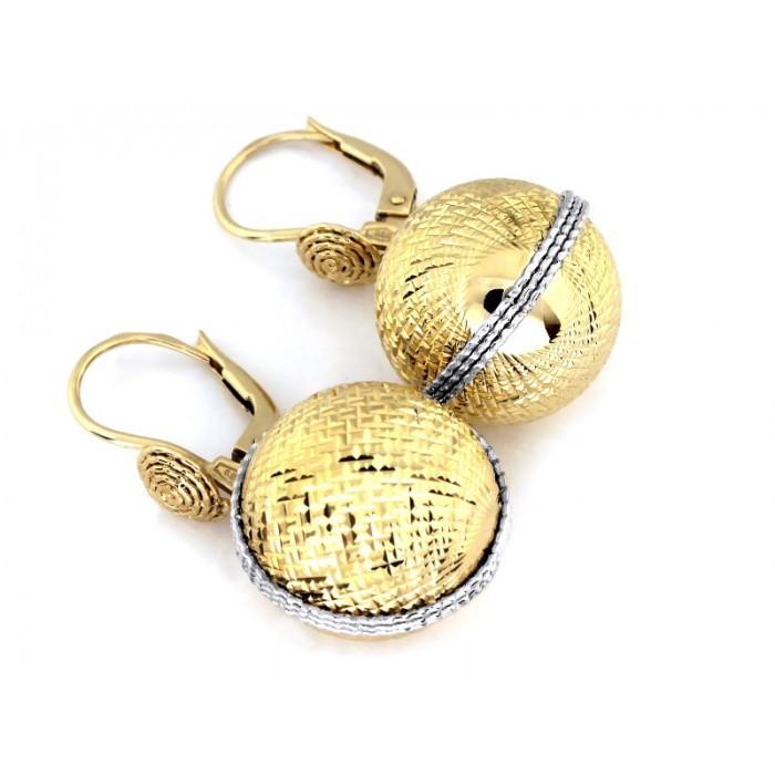 Kolczyki złote pr. 585 duże wiszące kulki