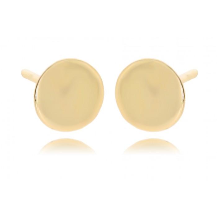 Kolczyki złote pr. 585 - gładkie pinezki