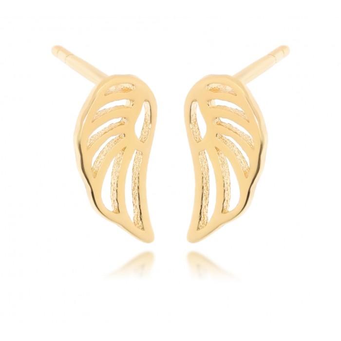 Kolczyki złote pr. 585 - skrzydła