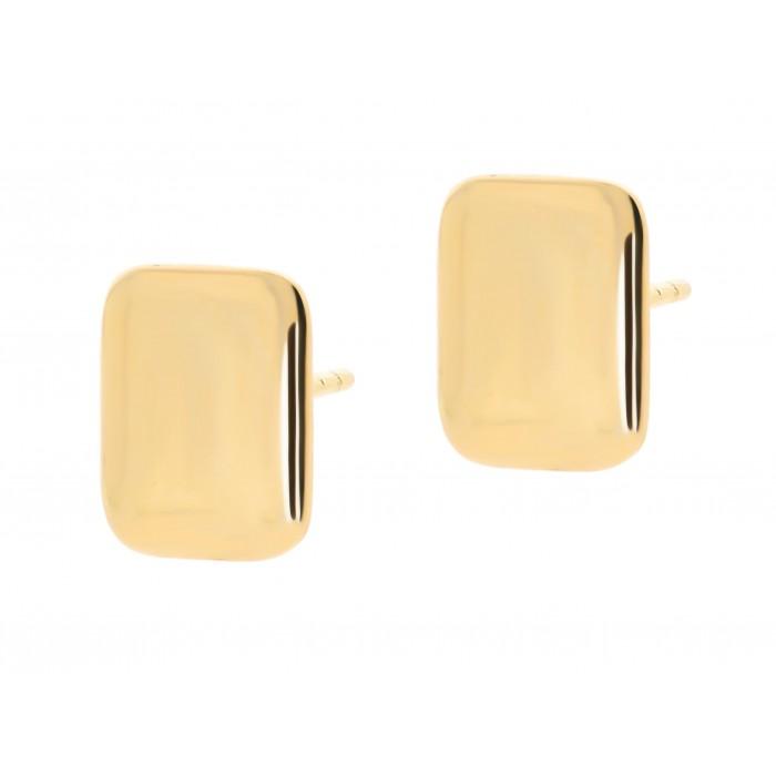 Kolczyki złote pr. 585 - gładkie prostokąty