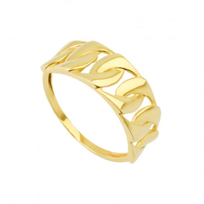 Pierścionek złoty - przeplatanka