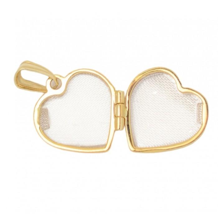 Zawieszka złota pr. 585 - serce (puzderko)