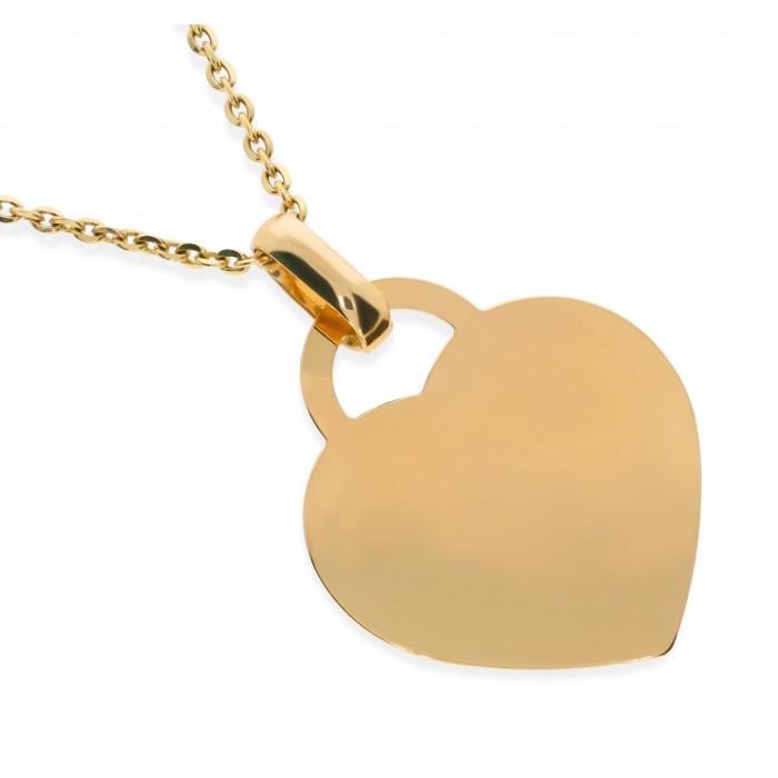 Zawieszka złota pr. 585 - serce gładkie