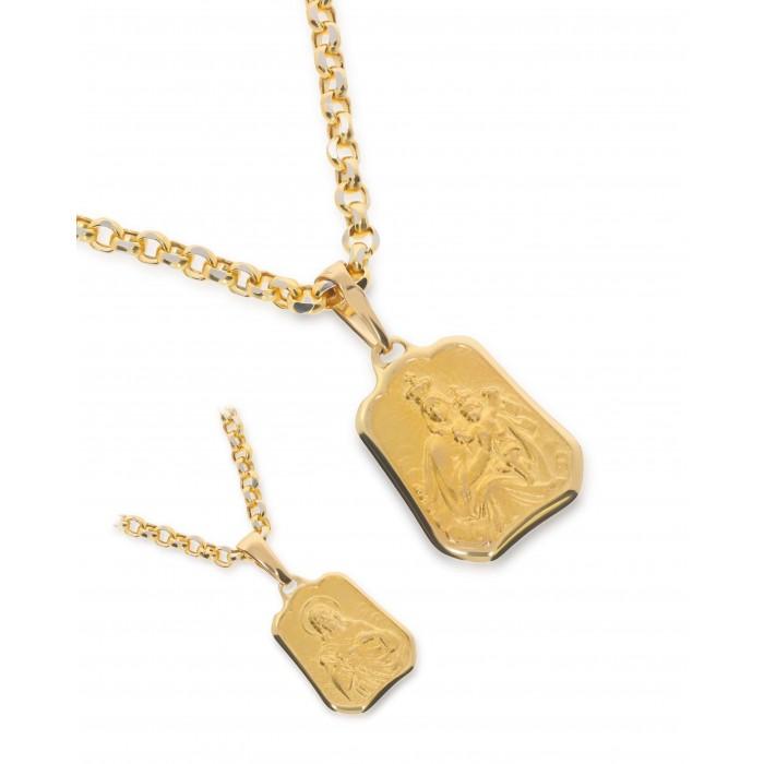 Medalik złoty pr. 585 - Matka Boska z Jezusem