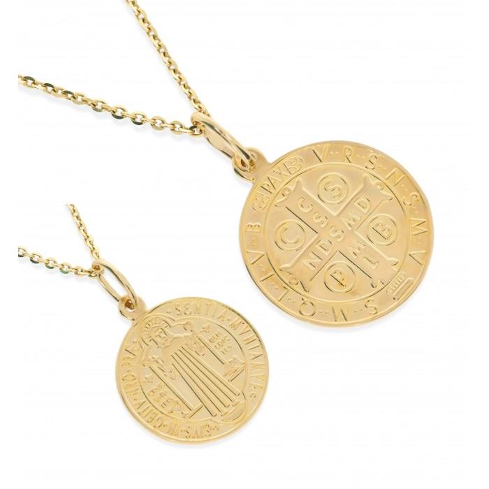 Medalik złoty pr. 585 - św. Benedykt
