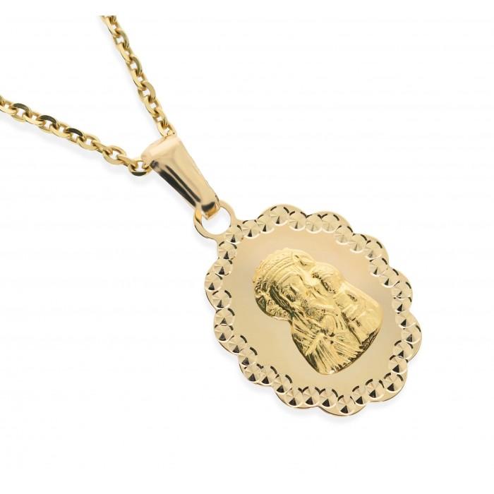 Medalik złoty pr. 585 - Matka Boska