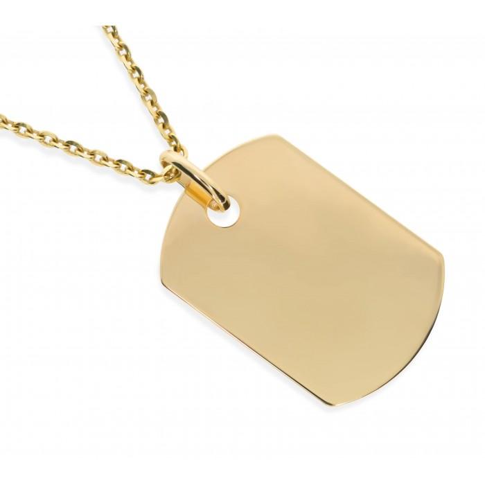 Zawieszka złota pr. 585 - blaszka zaokrąglana